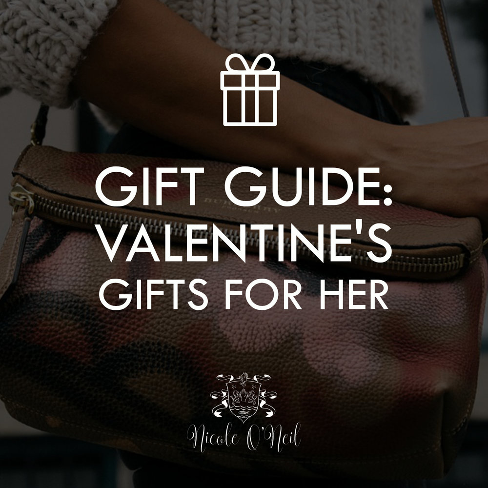 Need Valentine's Day Gift Ideas? This Valentine's Gift Guide for her features the perfect round up of gift ideas for your girlfriends, best friend, wife, fiance, sister or any other lady in your life! Whether you're celebrating Valentine's Day, Galentine's Day or just want to spoil someone special, there's something for everyone.