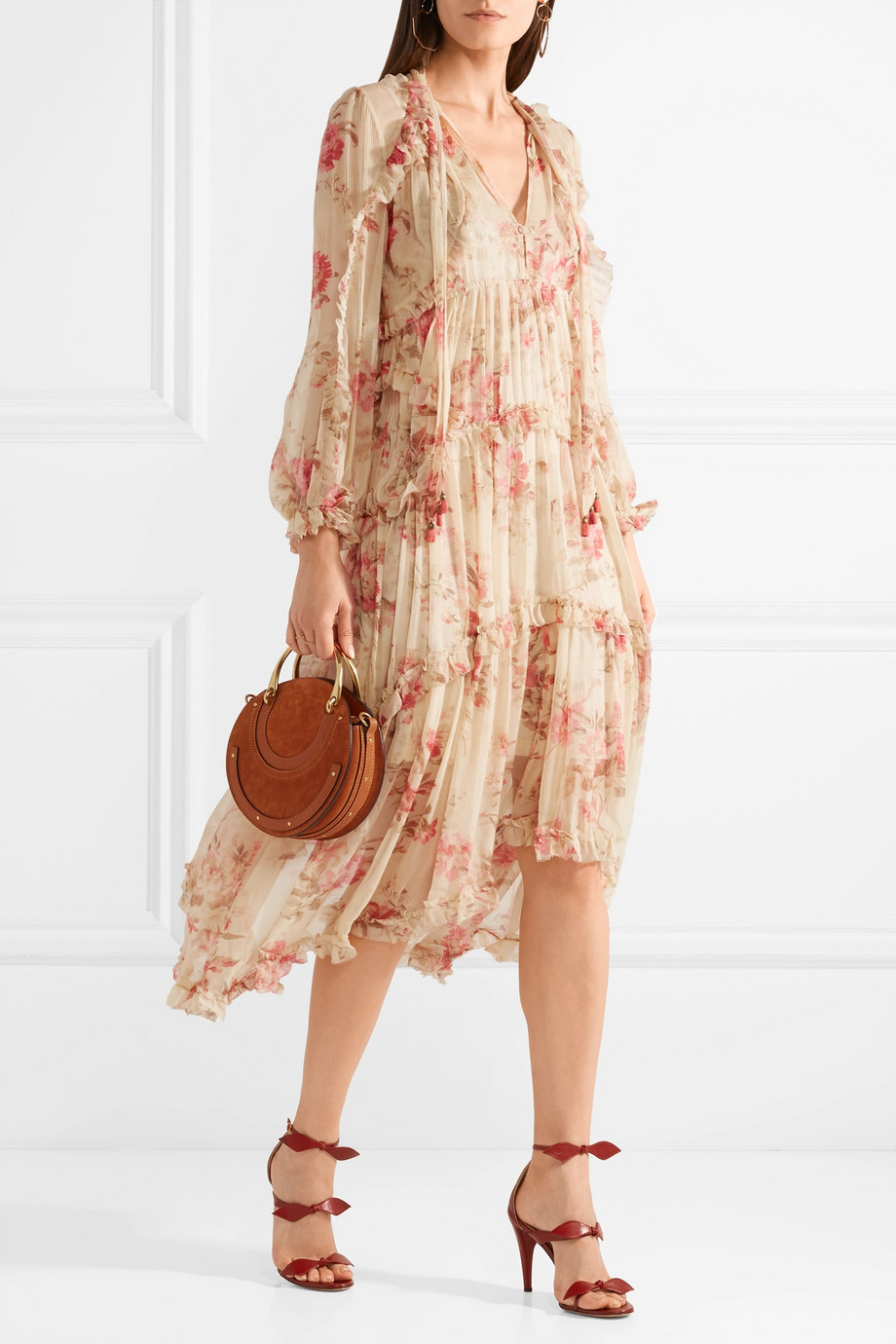 Zimmerman Cosair Floral Ruffled Dress