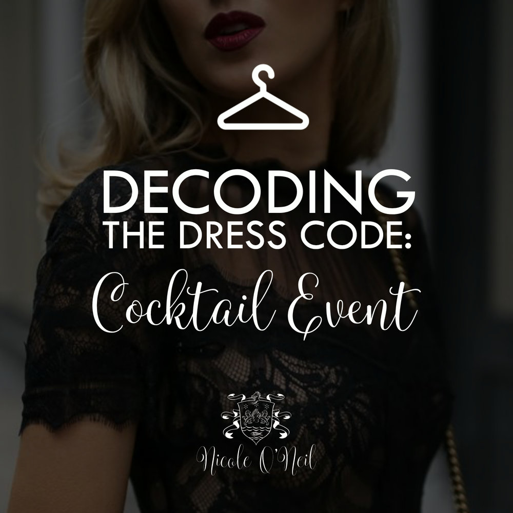 Decoding the Dress Code - What to Wear to a Cocktail Wedding or Event. Get Outfit Ideas and Inspiration and learn what you should or shouldn't wear to a cocktail event.