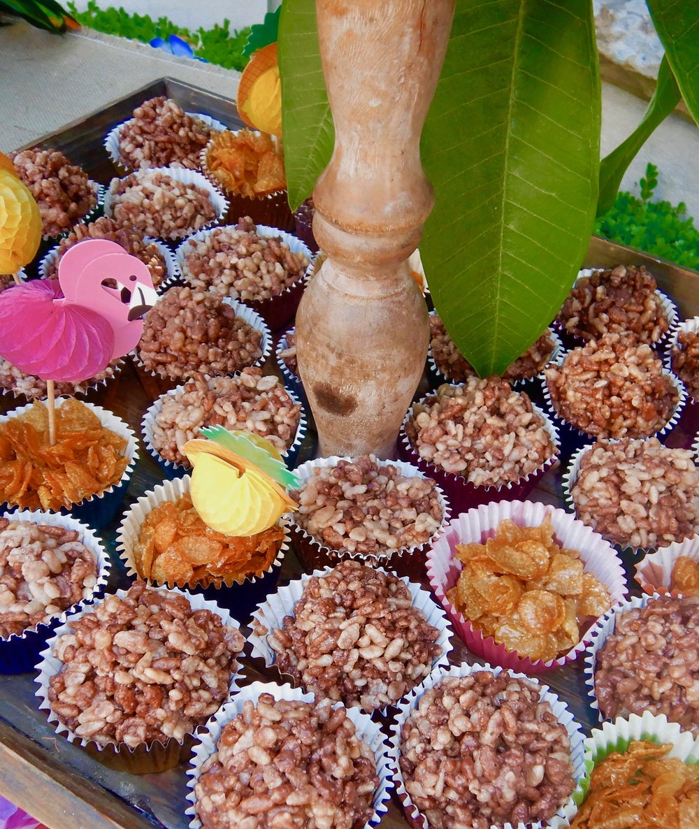 Chocolate Crackles and Honey Joys for Neve's Hawaiian Themed Birthday Party