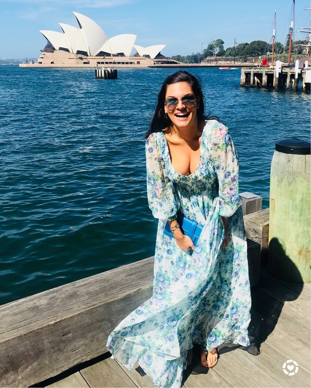 Nicole O'Neil Easter Outfit - Wearing Blue Zimmermann Whitewash Dress.jpg