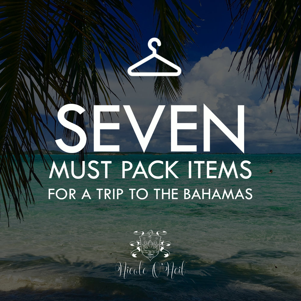 Wondering what to pack for a trip to the Bahamas? Take a look at my list of 7 Items You MUST Pack When Travelling to the Bahamas or any other beach/island vacation spot!