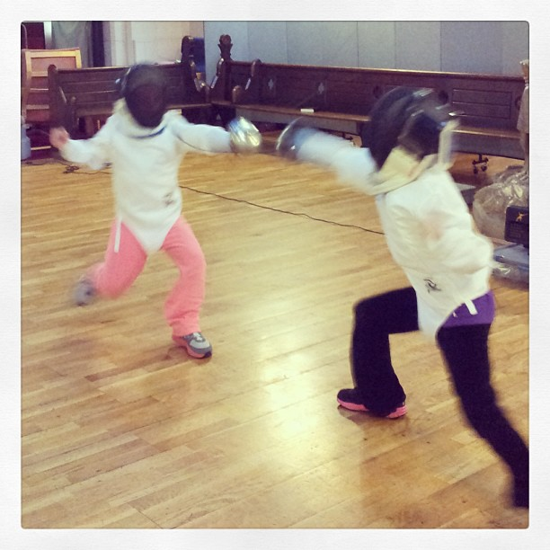 Nawal and Neve Fencing.jpg