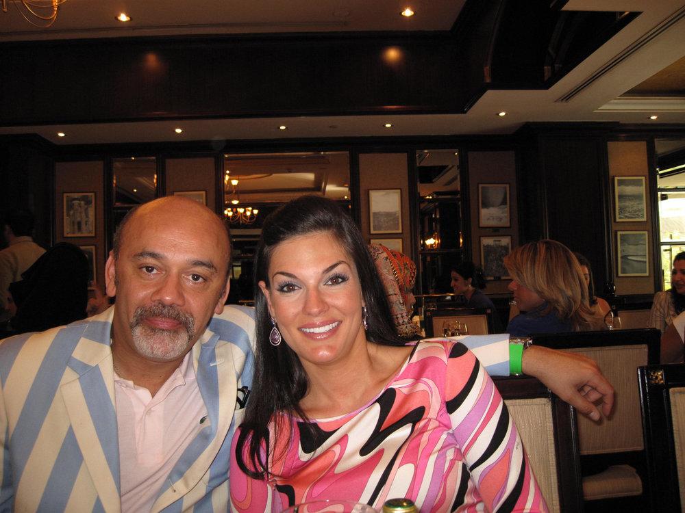 Nicole Gazal O'Neil and Christian Louboutin