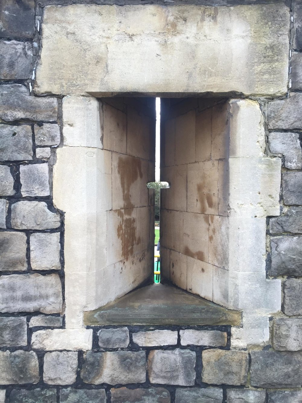 Windsor Castle Walls with holes for bow and arrow.jpg