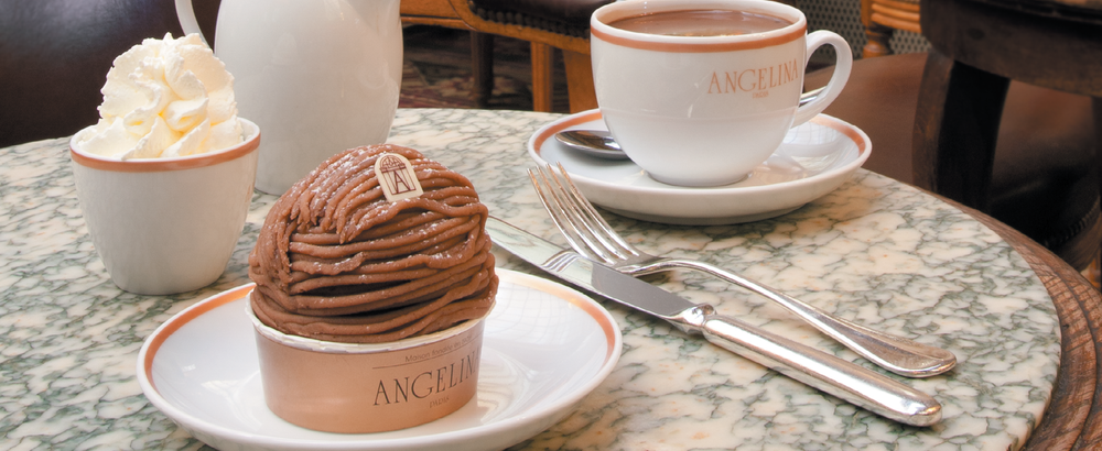 24 Hours in Paris - Hot Chocolates and Mont Blancs at Angelina.