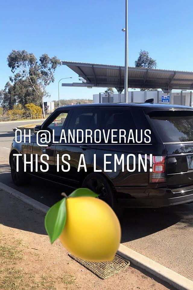 Land Rover lemon