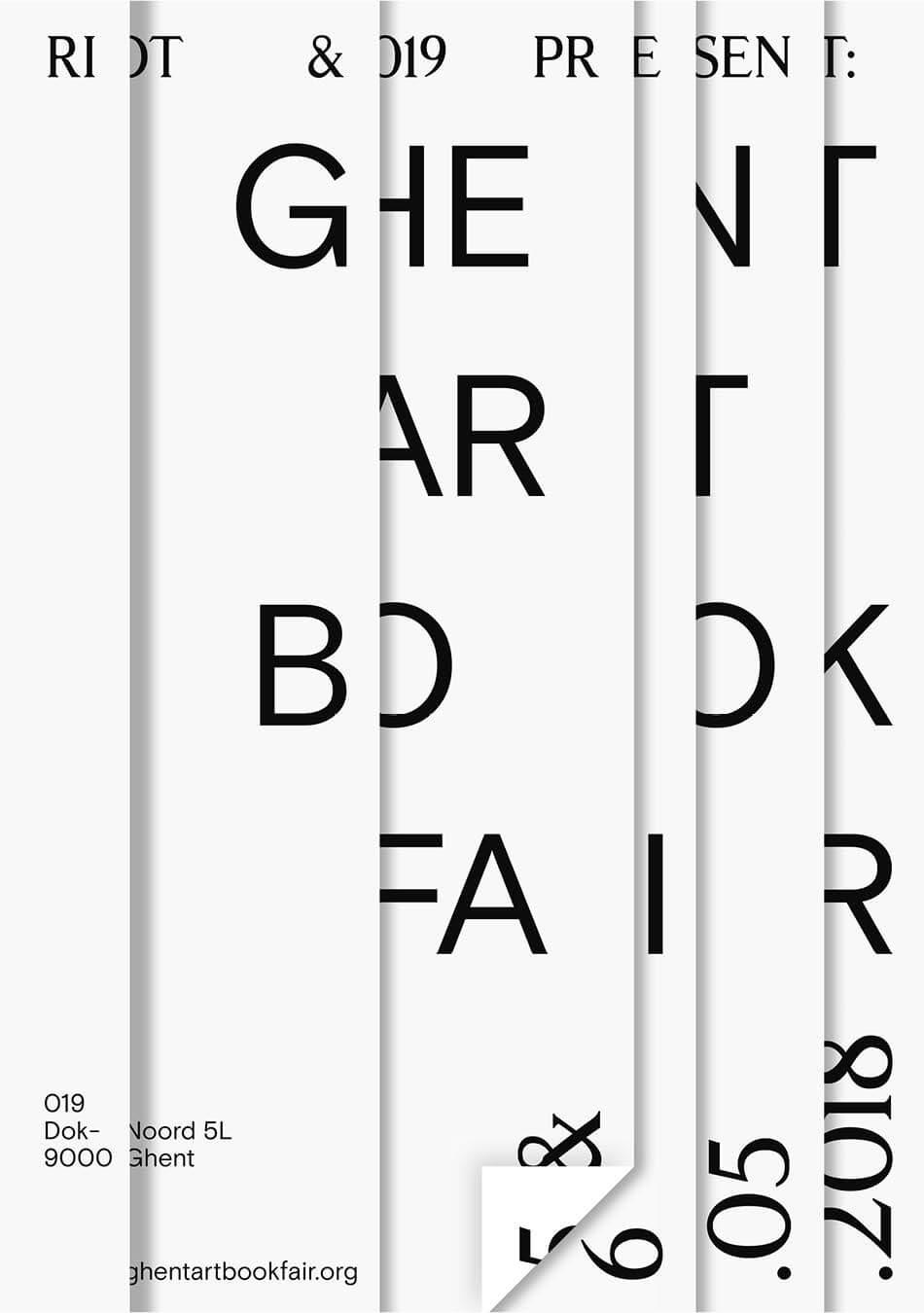- 05.05.-06.06.2018 Ghent Art Book Fair at 019, Ghent