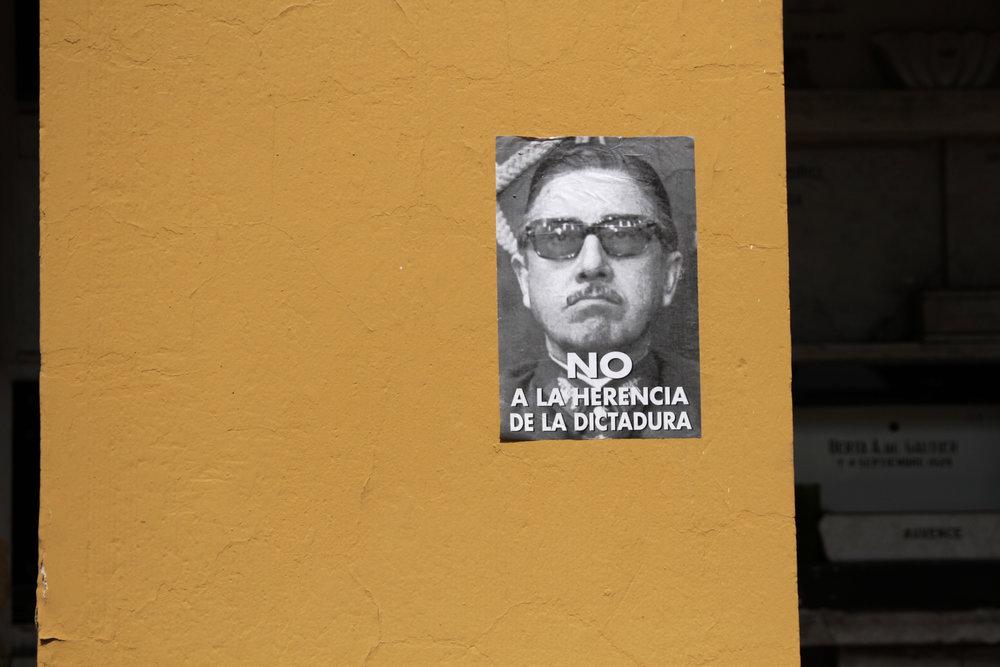 Photography of Pinochet, Santiago.