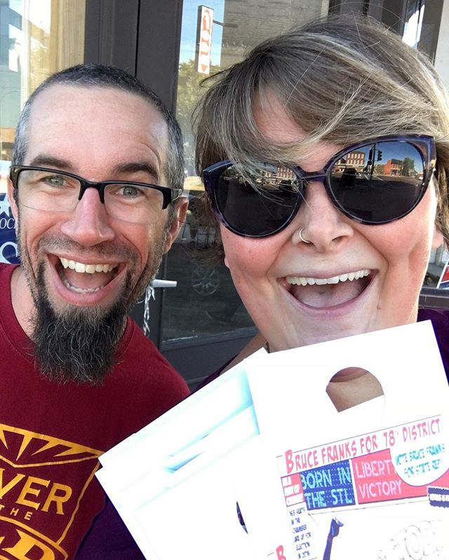 Meet Bryan and Sara, the 9th Ward Committeeman and Committeewoman. We've been busy canvassing for Bruce Franks this week. You can vote for him TOMORROW!