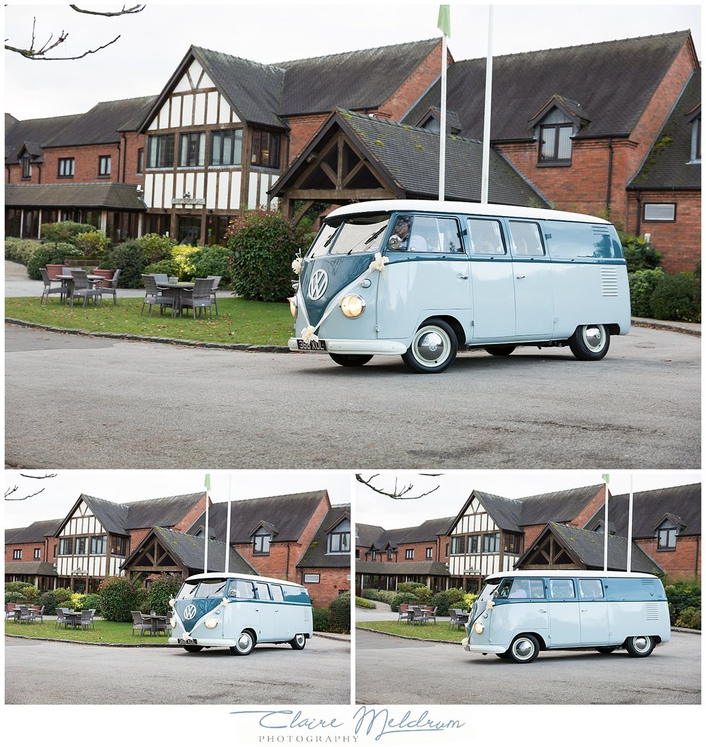 Blue pumpkin VW Wedding Hire