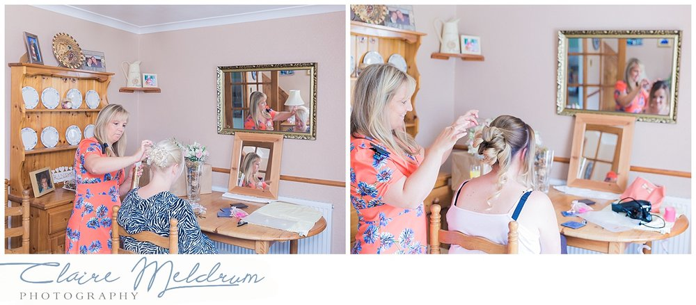 Wedding hair photography Staffordshire. Claire Meldrum Photography