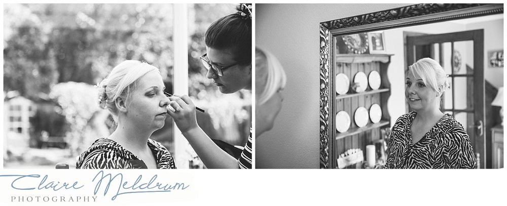 Wedding makeup photography Uttoxeter. Claire Meldrum Photography.