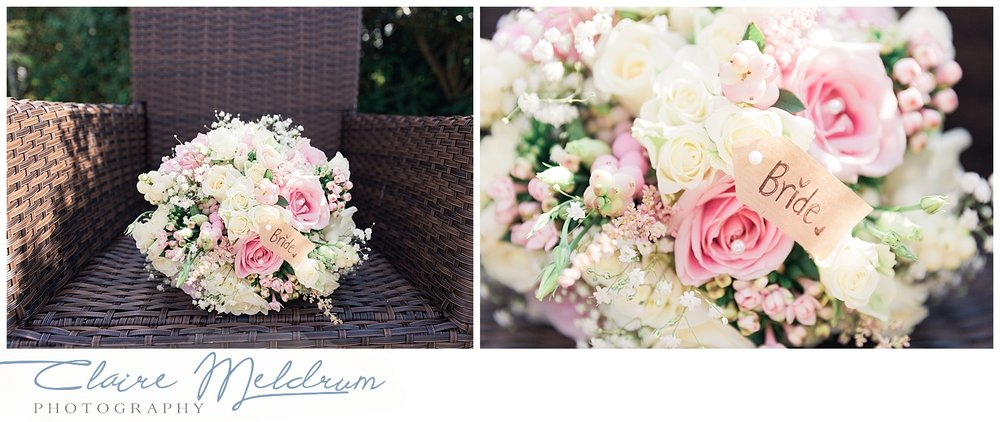 Bridal flowers Uttoxeter. Claire Meldrum Photography