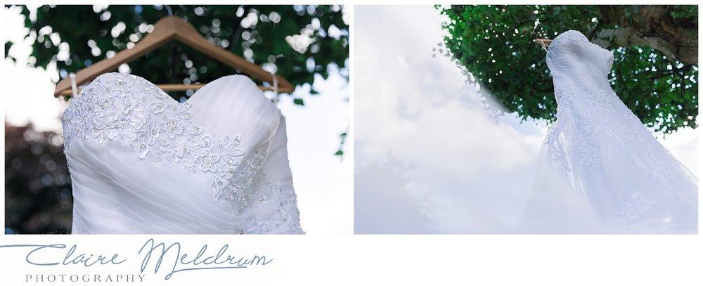 Wedding dress Staffordshire. Claire Meldrum Photographer