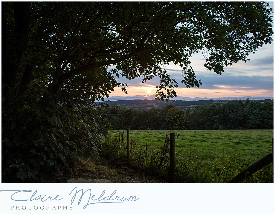 Sunset over Gibside Claire Meldrum Photography