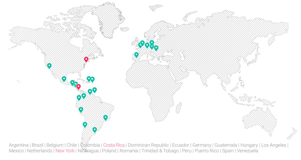 Locations with Fruitspot Country Managers