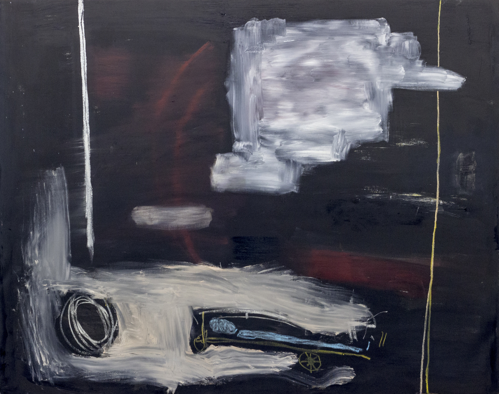 Phantasmagoria , 2015  54 x 68 Inches  Oil, Chalk Pastel, Graphite, and Oil Stick on Canvas