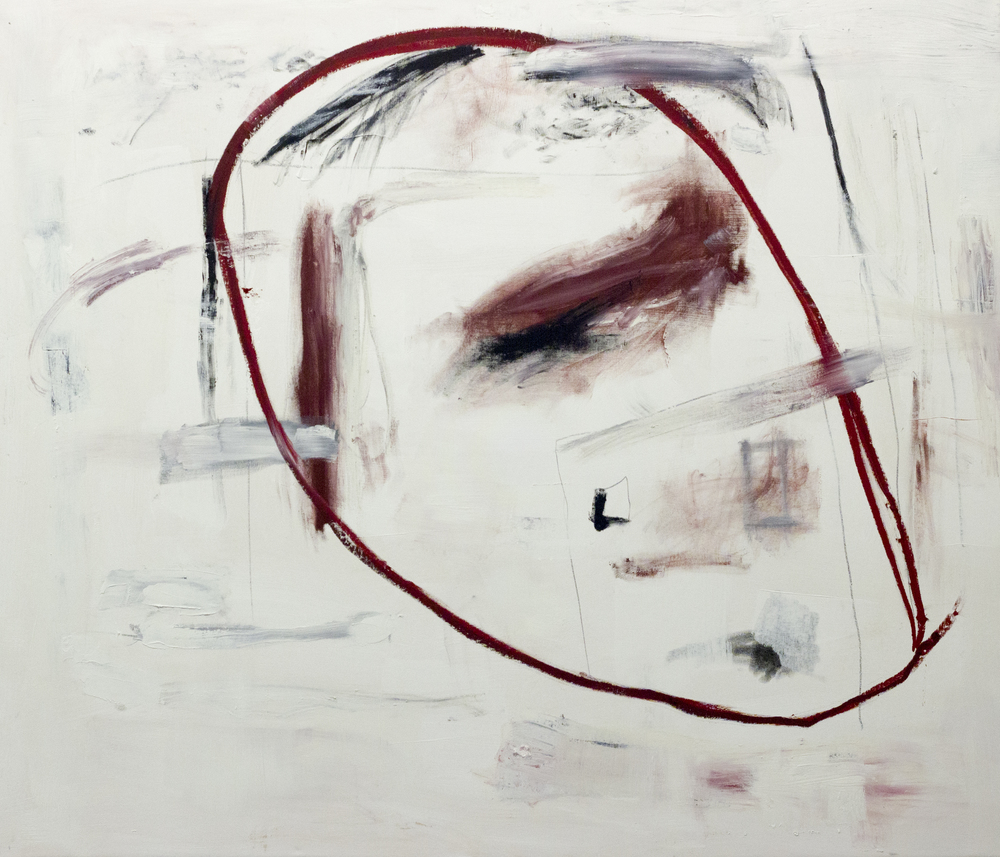 I in Myself in Another Person  , 2015   54 x 64 Inches  Oil, Acrylic, Graphite, Charcoal, and Oil Stick on Canvas