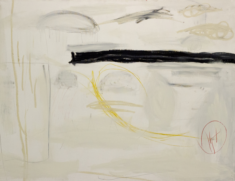 Waltz No. 2  , 2016   52 x 68 Inches  Acrylic, Oil, Graphite, Charcoal, Chalk Pastel, Crayon, and Oil Stick on Canvas