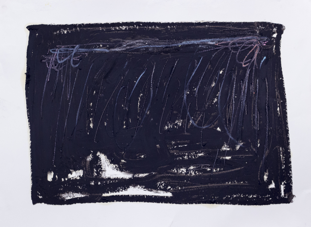 The Theater Before ; The Theater After  , 2015   Oil Stick, Graphite, and Pastel on Paper