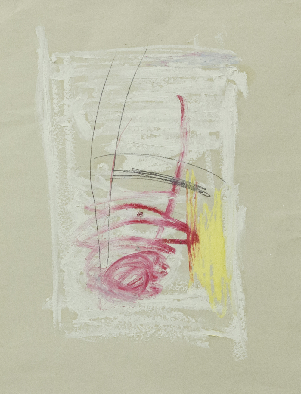 Everything in a Place Outside of Themselves  , 2015    24 x 18 inches   Oil Stick, Pastel and Graphite on News Print