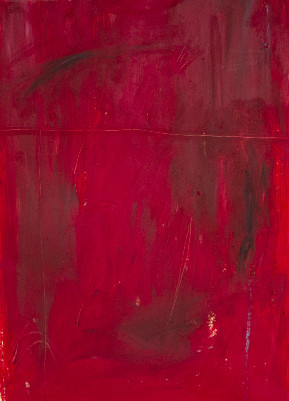 Hell in the Autumn  , 2015    24 x 18 inches   OIl Stick, Pastel, Charcoal, and Acrylic on Paper