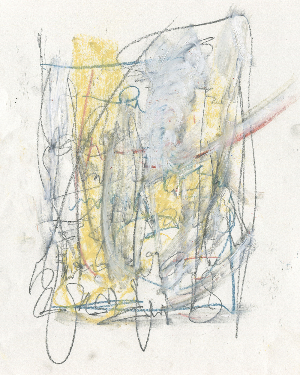 Schism , 2016  Crayon, Oil Stick, Cante Crayon, Graphite and Pastel on Paper
