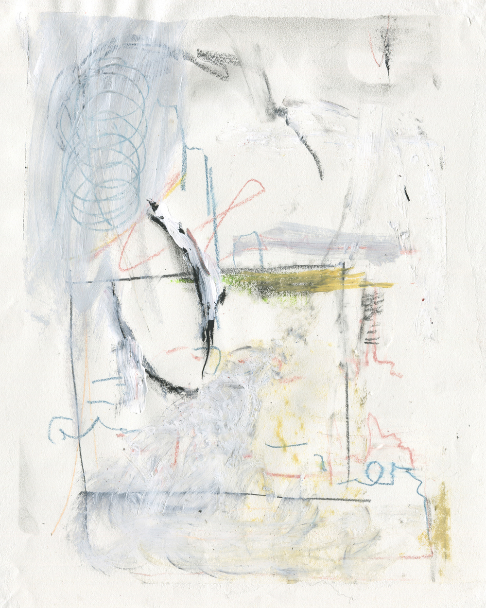 We All Miss You, Elliott , 2016  14 x 11 inches  Acrylic, Crayon, Charcoal, Colored Pencil, Graphite and Chalk Pastel on Paper