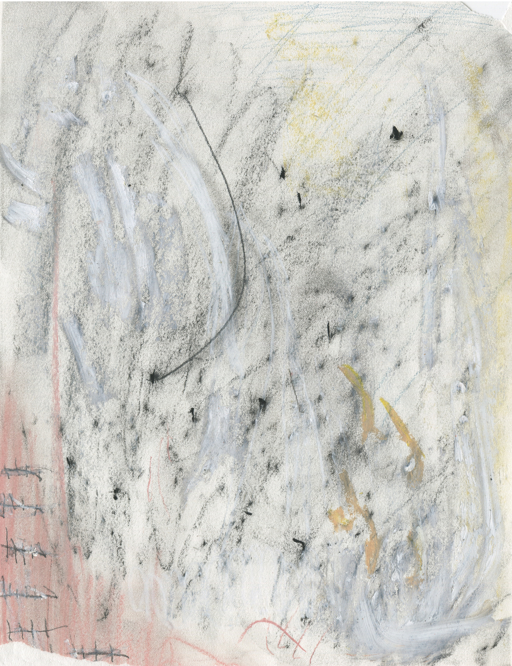 Oblivion, but Probably Not , 2016  14 x 11 inches  Charcoal, Acrylic, Chalk Pastel, Graphite, and Oil Pastel on Paper