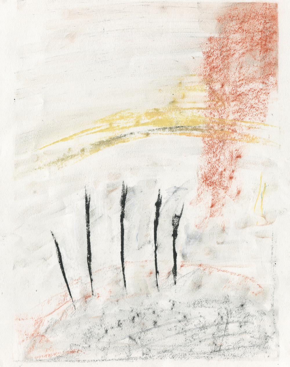 Waiting Whispers , 2016  14 x 11 inches  Chalk Pastel, Charcoal, and Cante Crayon on Paper