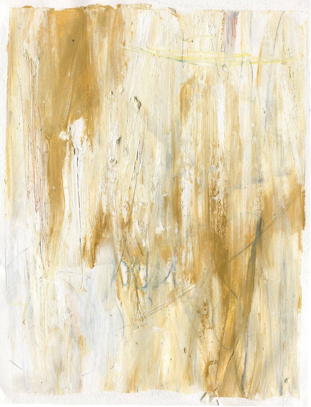 Yellow Melancholy , 2016  14 x 11 inches  Gouache, Oil Stick, Crayon, Graphite, and Colored Pencil on Paper