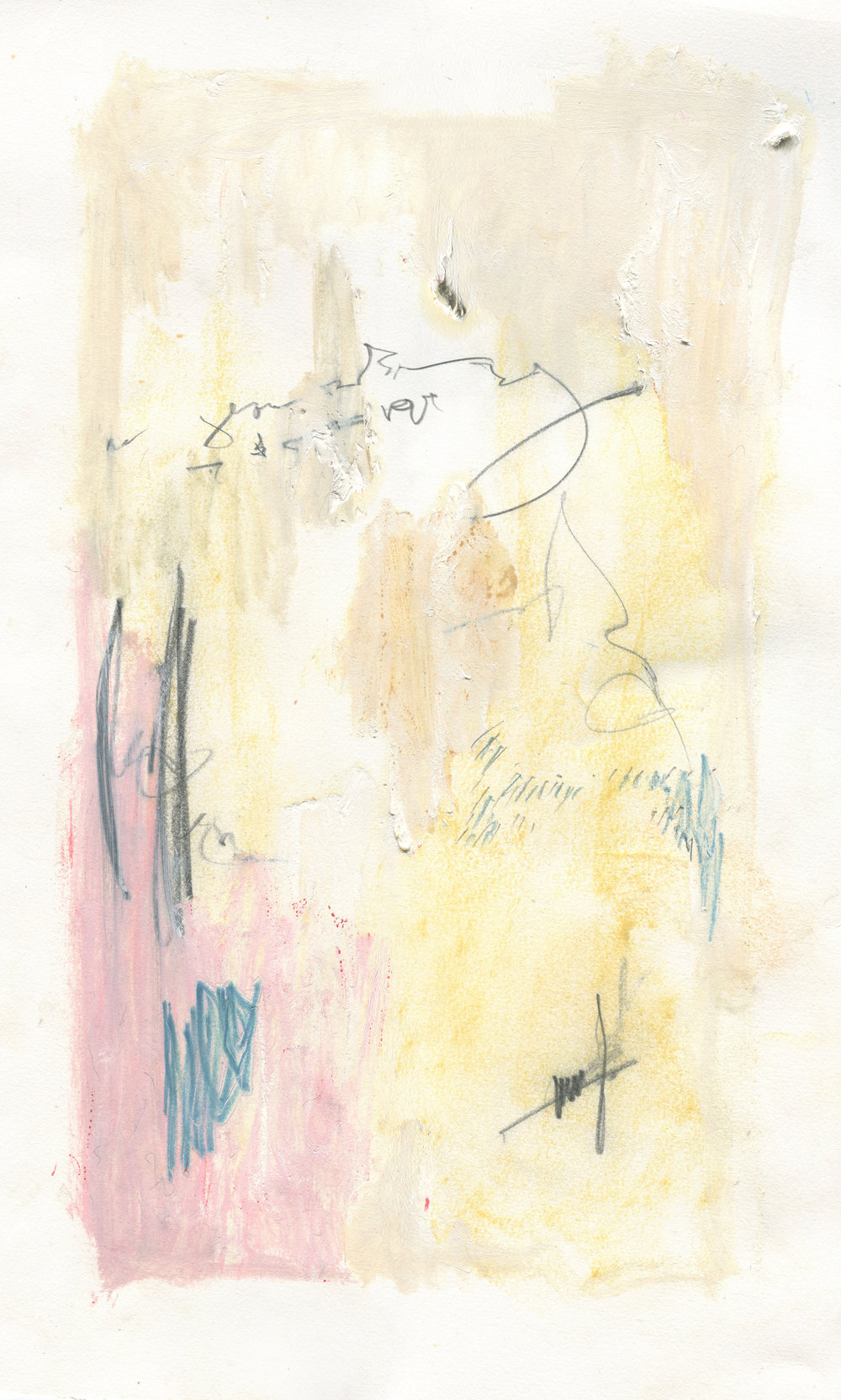 Breathing Heavy ; Breathless,  2016  24 x 15 inches  Chalk Pastel, Graphite, Lithography Crayon, Crayon, and Acrylic on Paper