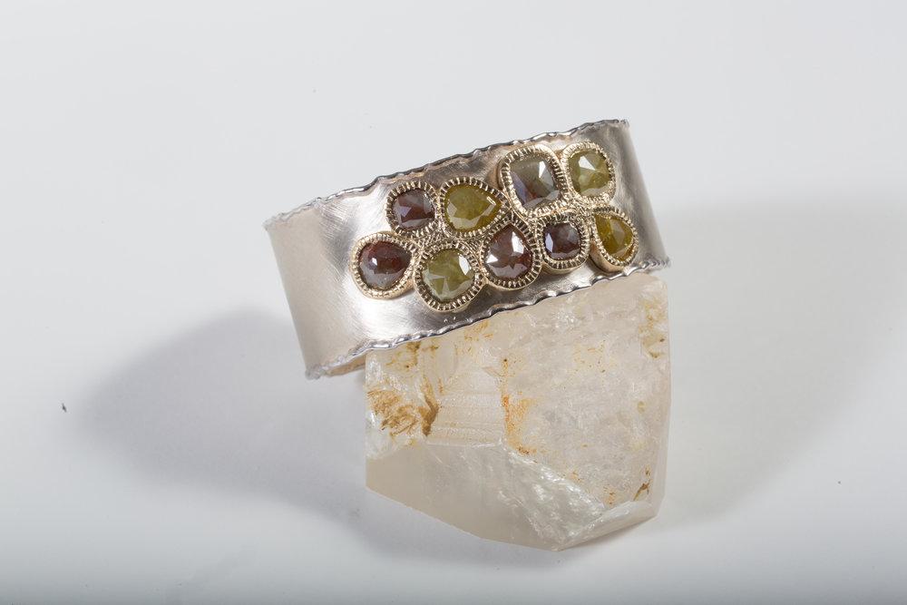 Natural Fancy Diamond Cuff $16,800