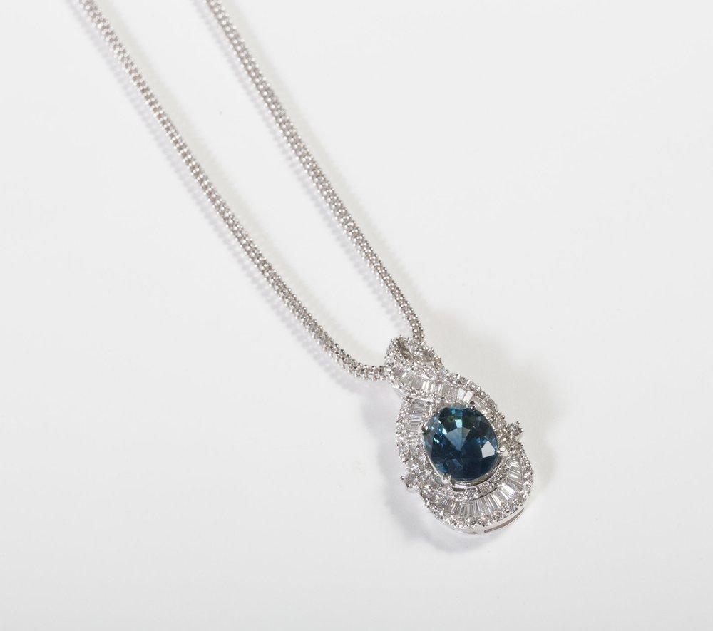Sapphire and Diamond Pendant $9,900