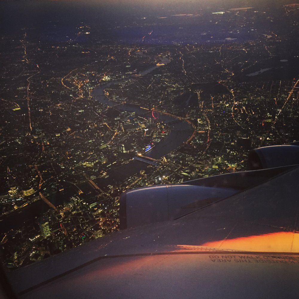 My first view of London, after 27 hours of travel.