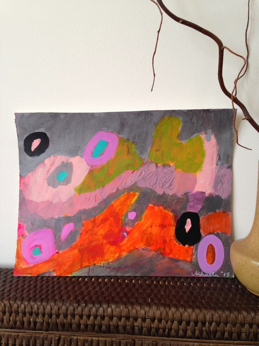 Magma, 32.5 X 25 cm, acrylic on paper