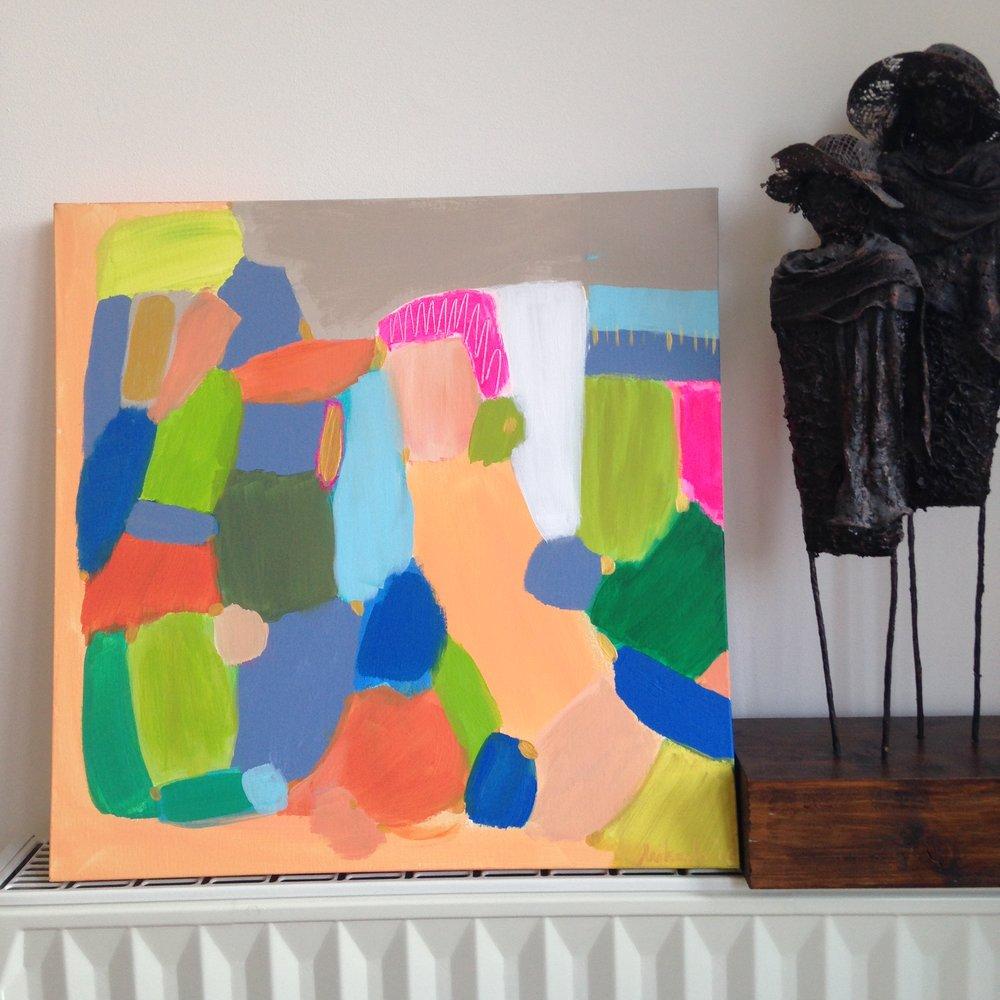 """""""Let's climb"""", acrylic on canvas, 50X50 cm"""