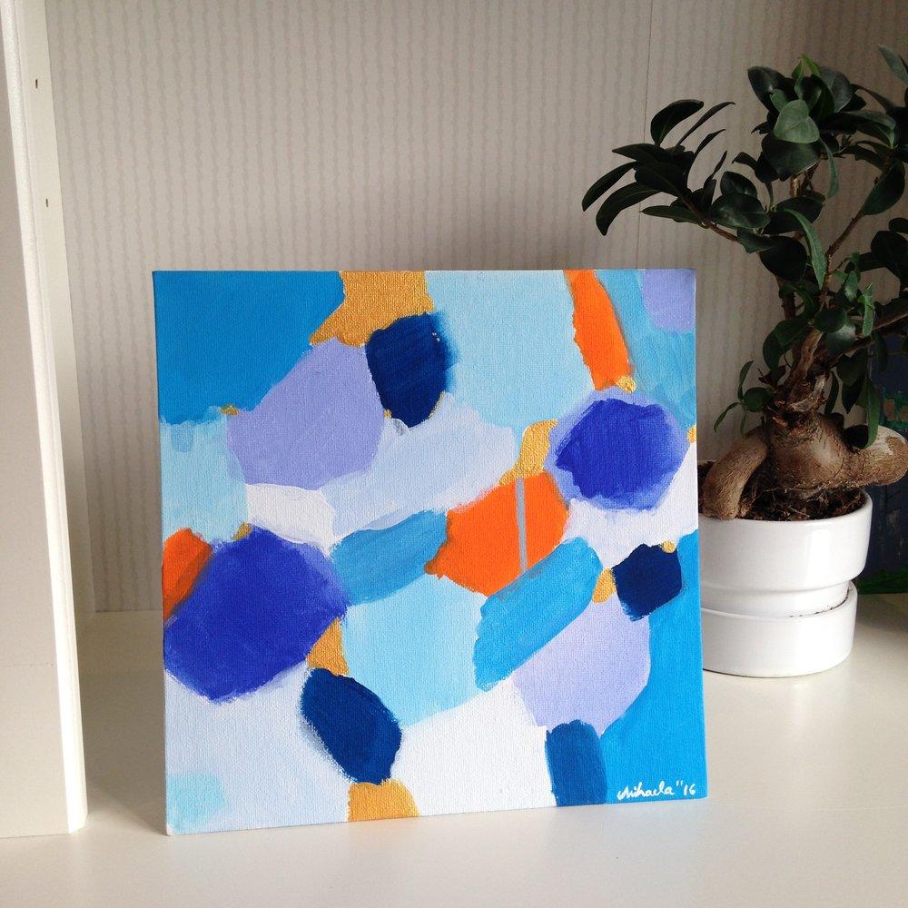 """Sunny Day"", acrylic on cardboard, 30X30 cm"
