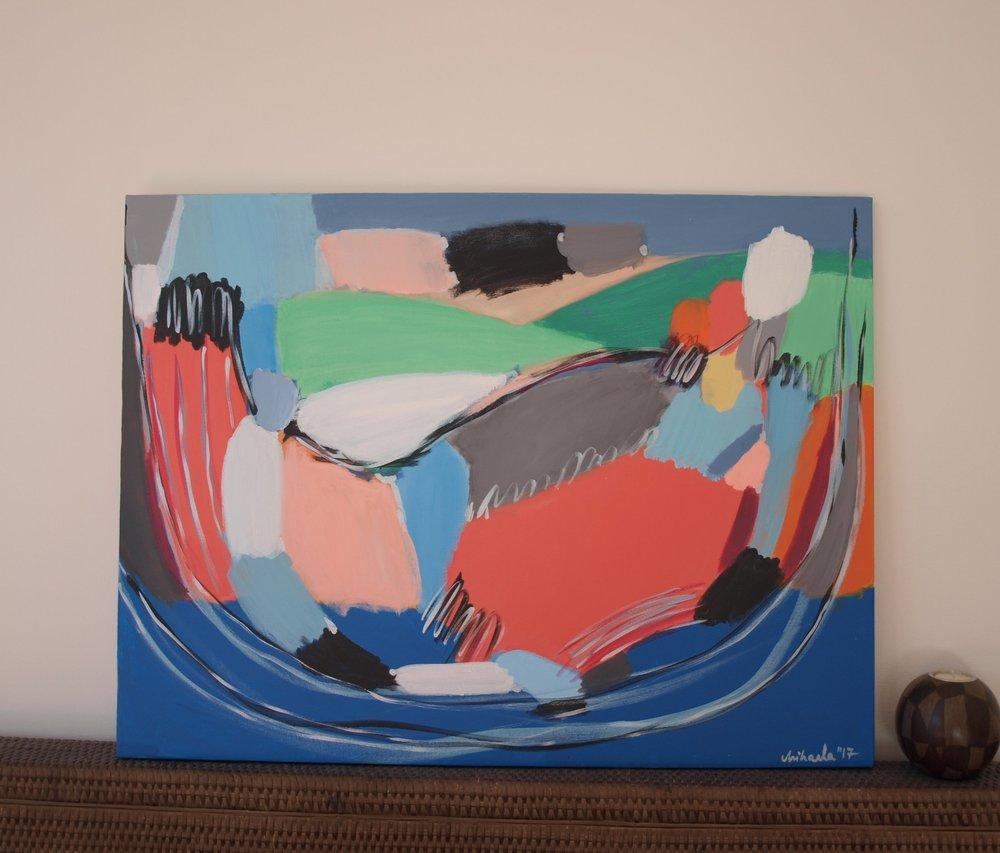 """Choose your spot"", acrylic on canvas, 60X80 cm"
