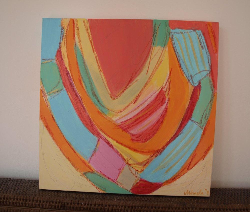 """NecklaceS"", acrylic on canvas, 50X50 cm"