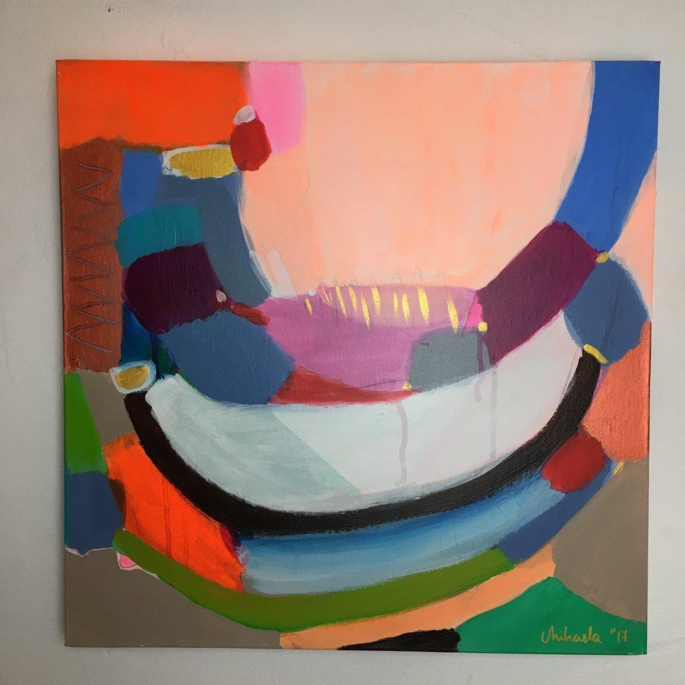 """Ballanced"", acrylic on canvas, 50X50 cm"