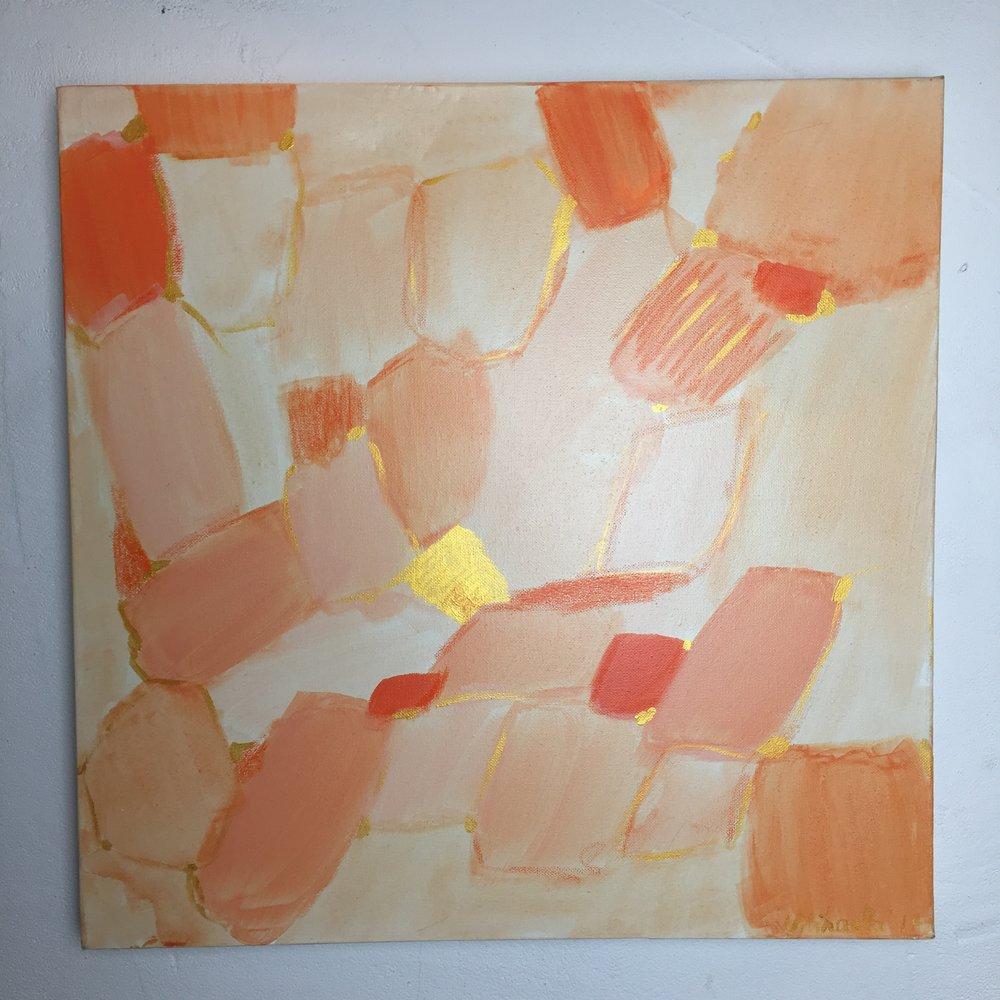 """""""Sun Shine"""", acrylic on canvas, 50X50 cm"""