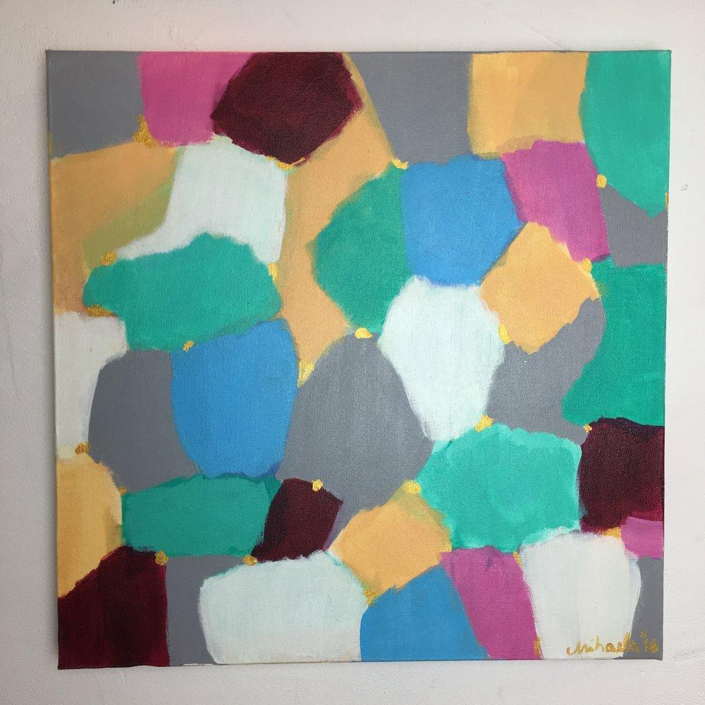 """Kaleidoscope"", acrylic on canvas, 50X50 cm"