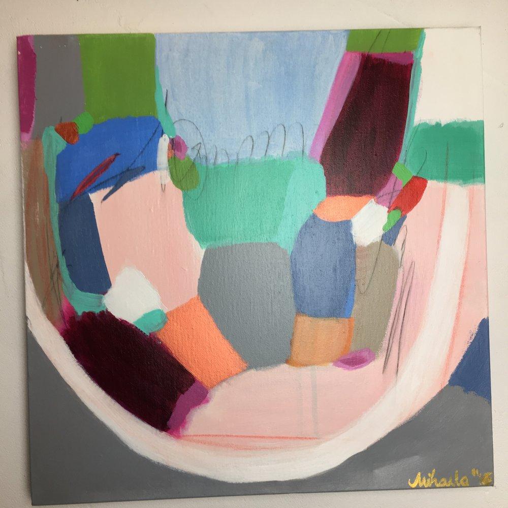 """Gray Zone"", acrylic on canvas, 50X50 cm"