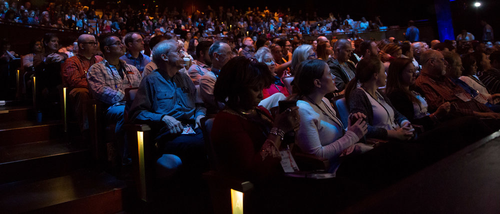 The TEDxMidAtlantic audience engages with big ideas