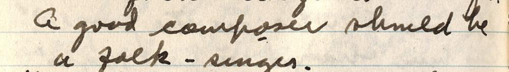 """A good composer should be a folk-singer."" - Florence Price ( source )"