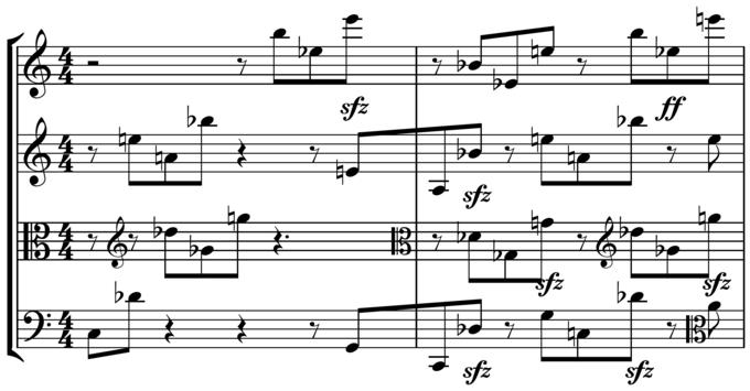 Schoenberg: String Quartet No. 1 (multiple errors)