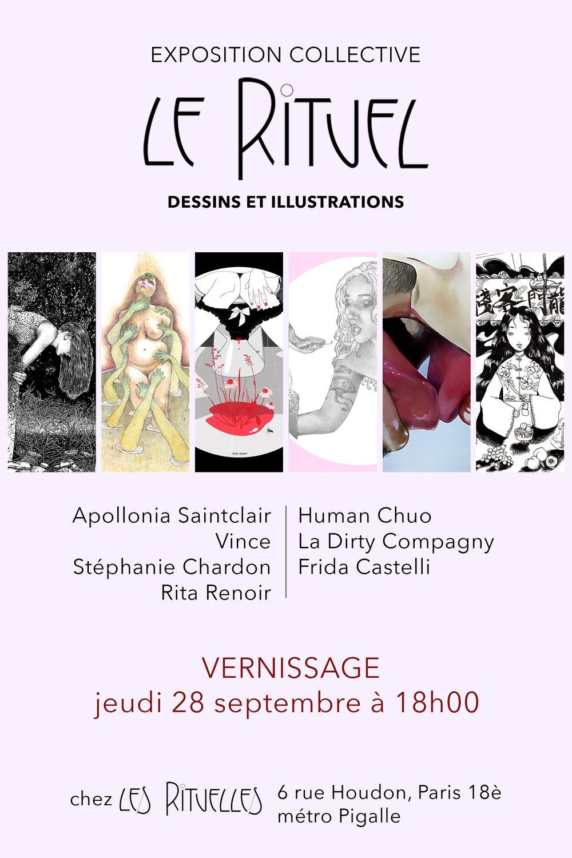 visuel exposition le rituel chez les rituelles 28 septembre 2018 vernissage
