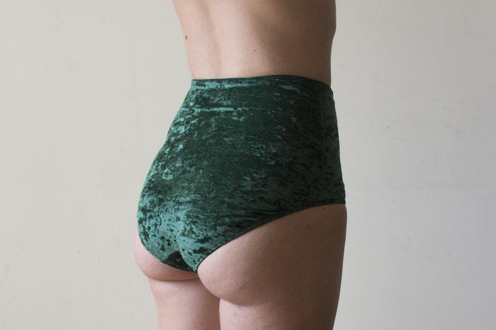 culotte haute velours vert